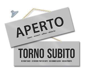 Cartello-APERTO-e-TORNO-SUBITO-negozio-vetrina-laboratorio-officina-bottega