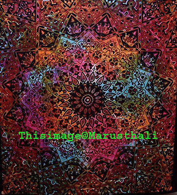Indian Mandala Tapestry Throw Hippie Wall Decor Tapestries Bohemian Star Hanging