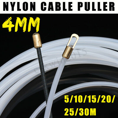 10//15//20//25//30M 3mm Nylon Wire Cable Rod Electrician Push Puller Duct Fish Tape