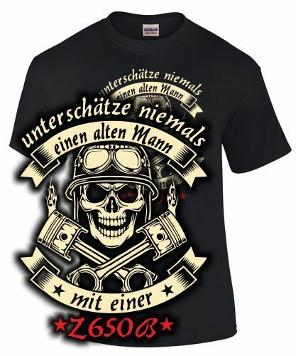 Z 650 B accesorios Piezas de repuesto t-shirt hechizo anciano con moto motorista retro