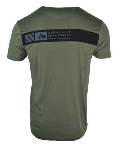 ALPHA INDUSTRIES CAMO T-SHIRT ARMY GREEN MILITARY KNOXVILLE TENNESSEE USA RARE