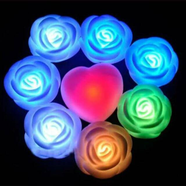 Colors Changing Rose Flower LED Light Night Romantic Valentine's Day Light Lamp