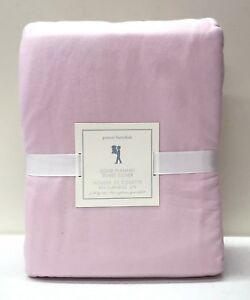 NEW Pottery Barn KIDS Solid Flannel FULL/QUEEN Duvet Cover, PINK