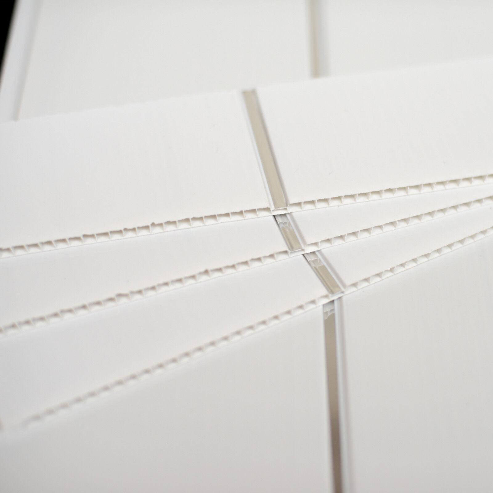 9 Of 12 White Gloss Chrome Bathroom Cladding Kitchen Ceiling Panels Shower Wet Wall Pvc