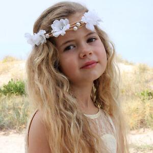 Toddler Vintage Flower Girl Pearl Headband