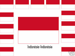 Drapeau De L Indonésie assortiment lot de 25 autocollants vinyle sticker drapeau indonésie