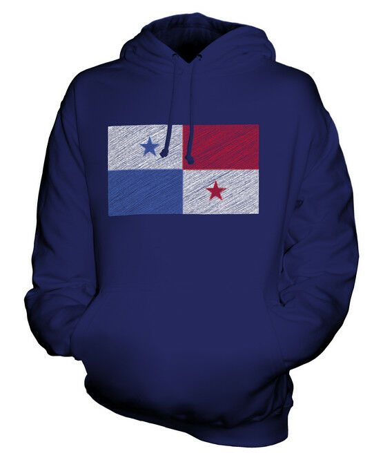 PANAMA SCRIBBLE FLAG UNISEX HOODIE TOP GIFT PANAMÁ PANAMANIAN