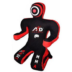 Brazilian-Jiu-Jitsu-Canvas-Grappling-Kneeling-Dummy-Boxing-Judo-MMA-Black-Red