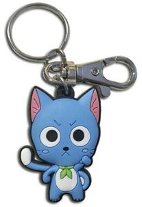 Fairy-Tail-Anime-Keychain-Key-Chain-Happy-Cat-Kitty-Pvc-Officially-Licensed-New
