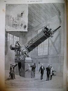 TELESCOPE-OBSERVATOIRE-CARPEAUX-SAINT-DENIS-BASILIQUE-NAUFRAGE-MER-GRAVURES-1875