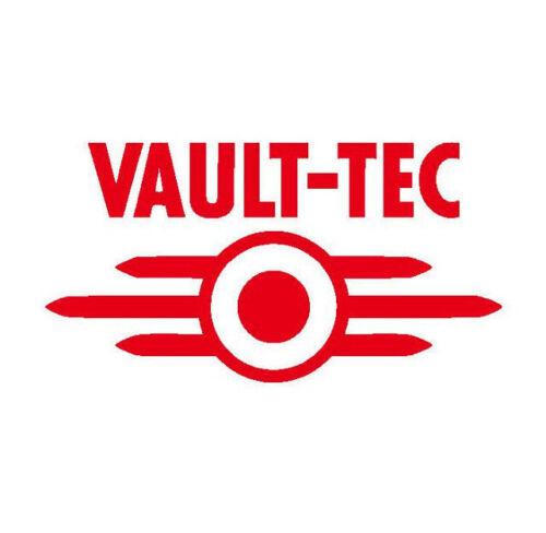 Fallout /'Vault-Tec/' logo Vinyl Sticker Decal RED GLOSS 11.4 x 6cm