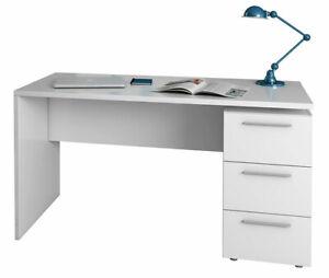 Detalles de Mesa de despacho con cajonera escritorio para oficina  74x138x60cm Tecnon Blanco