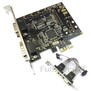 PCI-Express-Serial-Card-Quad-Four-Port-RS-232-PCIe-Mischip