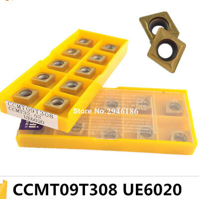 2PCS CCMT09T308 PCD carbide inserts CCMT32.52 turning tool FOR STEEL