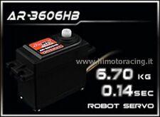 NUOVO SERVO ROBOT POWER 6.7 Kg AR-3606HB ROTAZIONE CONTINUA INGRANAGGI PLASTICA