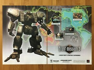 Front-Mission-3-PS1-PSX-Playstation-1-2000-Vintage-Poster-Ad-Art-Print-Official