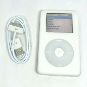Apple-iPod-Classic-4eme-Generation-Color-20go-blanc-A1059-Cable-neuf