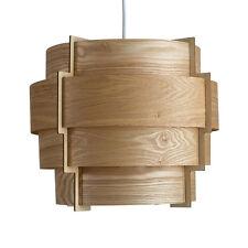 Contemporary 4 Tiered Wood Veneer Ceiling Pendant Light Shade Lounge Lighting