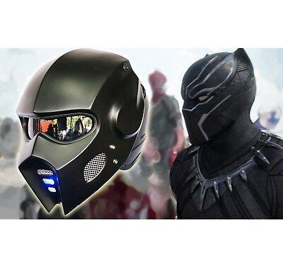 ABS AUTO-CUSTOM NEW CASCO ELMETTO BLACK PREDATOR MOTORCYCLE HELMET-HERO COSPLAY