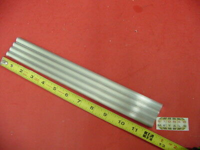 """4 Pieces of 7//16/"""" 6061 T651 ALUMINUM SOLID ROUND COLD FINISH 12/"""" long Cut New"""
