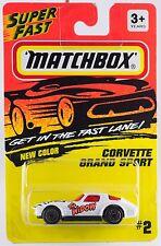 Matchbox MB 2 Corvette Grand Sport White w/Orange The Widow Thailand 1995 MOC