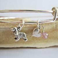 Cocker Spaniel Mini Heart Stackable Bangle Bracelet (2.5-3)- Free Shipping