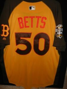 huge selection of 14298 69823 Details about MOOKIE BETTS SIGNED 2016 ALL STAR JERSEY AUTHENTIC MAJESTIC-  BOSTON RED SOX