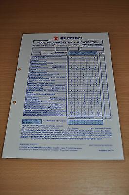Inspektionsblatt Technische Daten Suzuki Sv 650 A/sa Sport Ab K7 2007 Typ Wvby