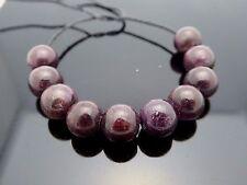 Natural Genuine Dark Red Round 8mm Madagascar Ruby Gemstone Beads 10 Pieces