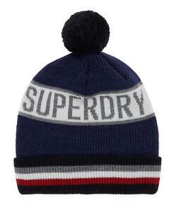Neue-Superdry-Super-Stripe-Logo-Be-Dunkelblau-Meliert