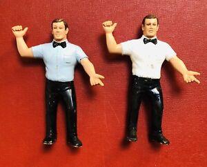 Vintage-1988-LJN-WWF-Wrestler-Blue-Shirt-Ref-Figures-Wrestling-Superstars-READ