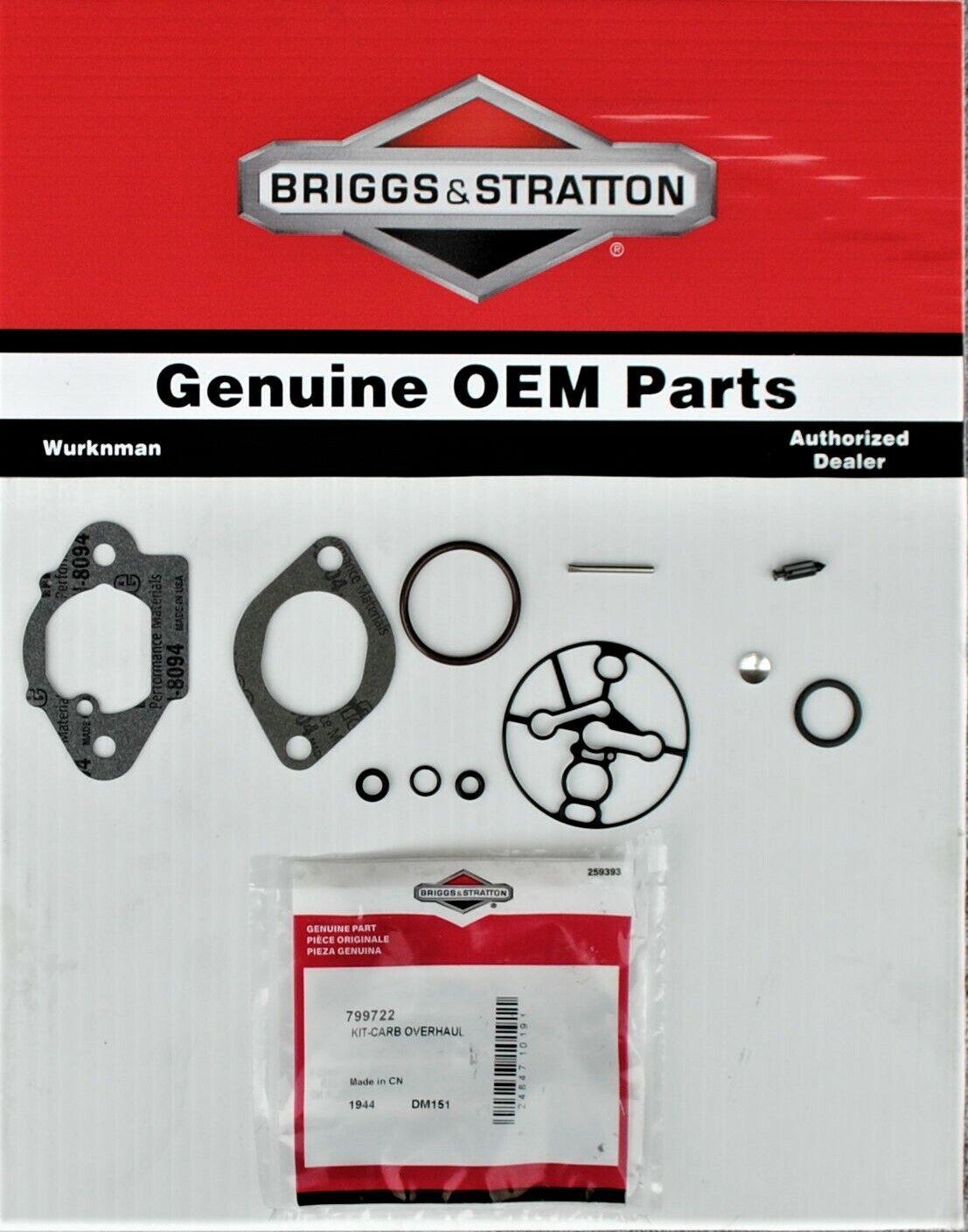 OEM Briggs /& Stratton 843787 Carburetor Overhaul Kit 842884 842436 842882 842850
