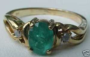 10K-Solid-Yellow-Gold-85-Carat-Oval-Cut-Emerald-Ring