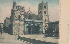 MONREALE-Facciata-della-Cattedrale-Sicily-Italy-udb-pre-1908