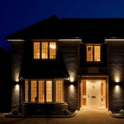 LED Lampada da parete interno esterno ip44 Lampada Parete Spot Faretto gu10 soggiorno
