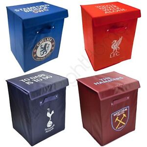 Football Fabric Storage Boxes Bedroom Chelsea Liverpool