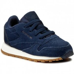 1fc7dcbbe49 Reebok Classic CL Leather SG Size 1.5 Navy RRP £40 BNIB BS8951