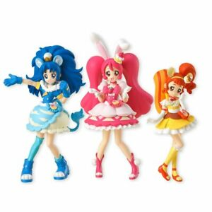 Glitter-Kirakira-Precure-La-Mode-Cutie-Figure-3-Set-Candy-Toy-Japan-Bandai