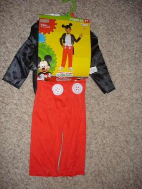 MICKEY MOUSE CLUBHOUSE Toddler Costume 2T and 3T-4T by Disguise Disney Junior