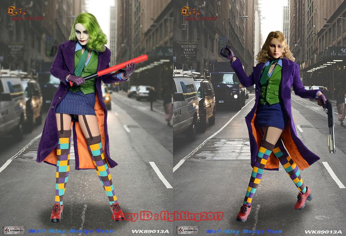60% de descuento Wolfking Wolfking Wolfking 1 6 escala la hembra Joker 2.0 Deluxe Ver. figura De Acción WK89013A  alta calidad