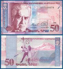 SCARCE ARMENIA UNC Banknote 50 Dram 1998 ARAM KHACHATURIAN /& Opera House P-41