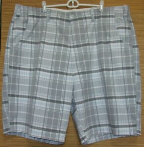 Casuals-Roundtree-amp-Yorke-Mens-Gray-Plaid-Shorts-Size-46W