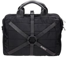 Borsa Cartella Harness Bikkembergs D0509 Briefcase Men Business Uomo Nero Black