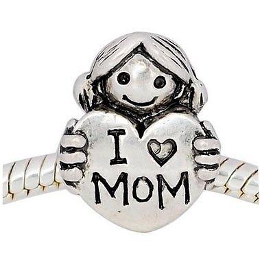 """GESCHENK ANDANTE-STONES SILBER BEAD /""""I Love Mom/"""" LIEBE MEINE MUTTI MUTTER #3452"""