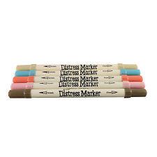 Tim Holtz Distress Ink Fine & Brush Dual-Tip 5 Piece Marker Set - Bouquet