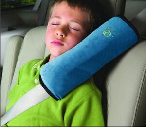 Blau-Sicherheits-Gurtpolster-Autogurtpolster-Schulterpolster-kind-Schlafkissen