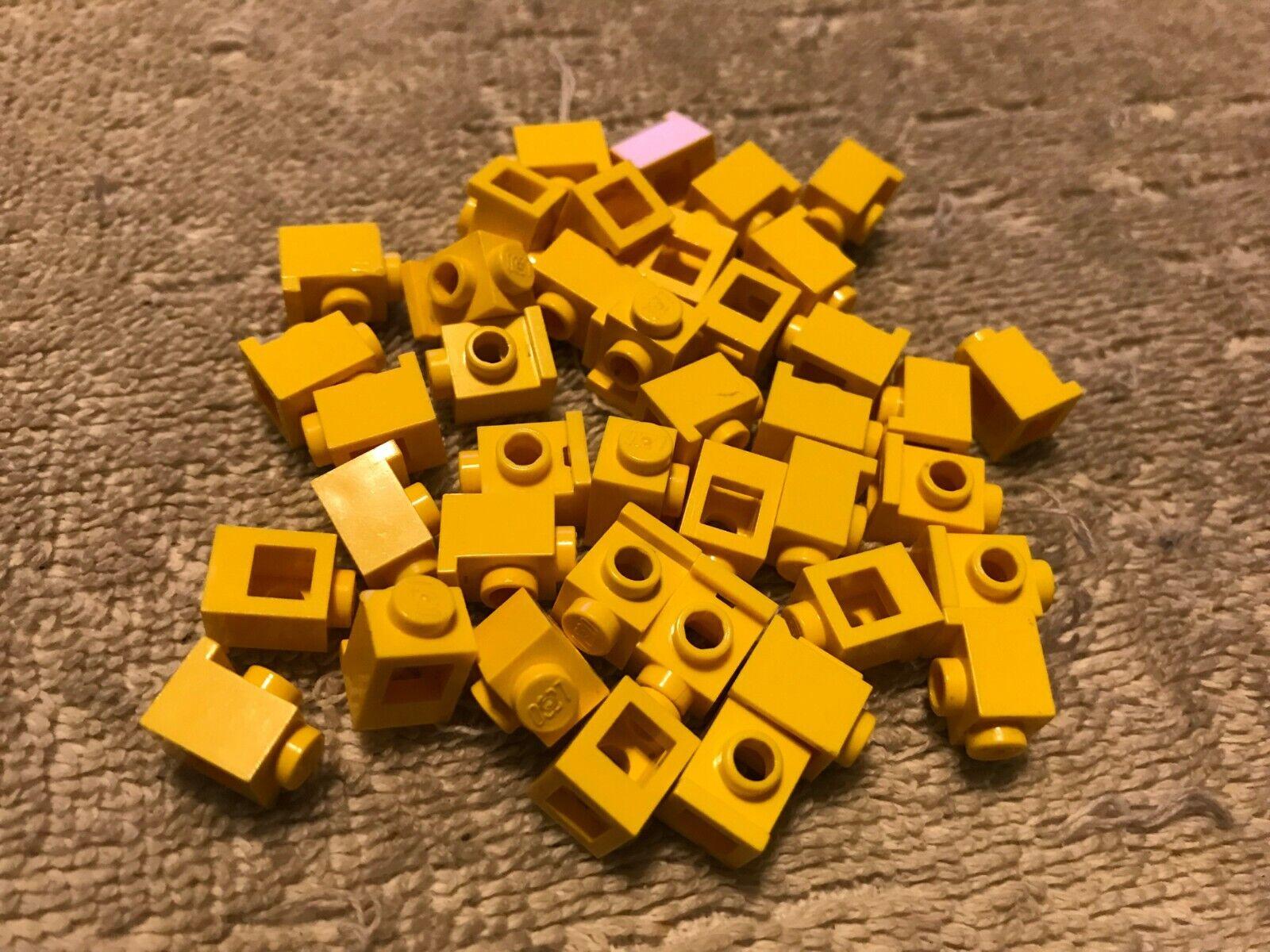 1x2 YELLOW Plate Bricks w// Vert Tab ~ Lego  ~ NEW ~ Castle 8