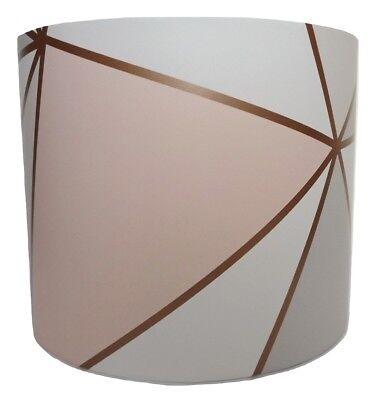 Geometric Lampshade Ceiling Pendant, Rose Gold Pendant Lamp Shade