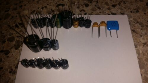 Sega Game Gear Capacitor Replacement set Fixes no or low sound & lines/dimness