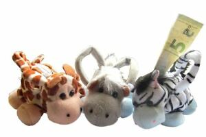 Geldboerse-Tiere-Boerse-Geldbeutel-Kinder-Pluesch-Zebra-Nilpferd-Plueschtier-NEU-OVP